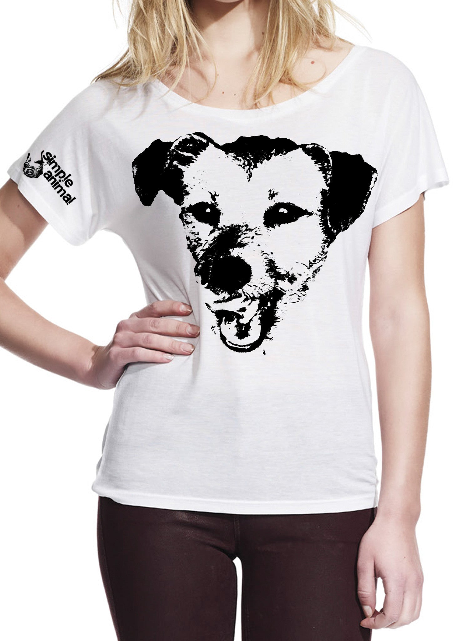 Happy Dog, Batwing Style, 100% Tencel® (Lyocell), Ladies - Simple Animal