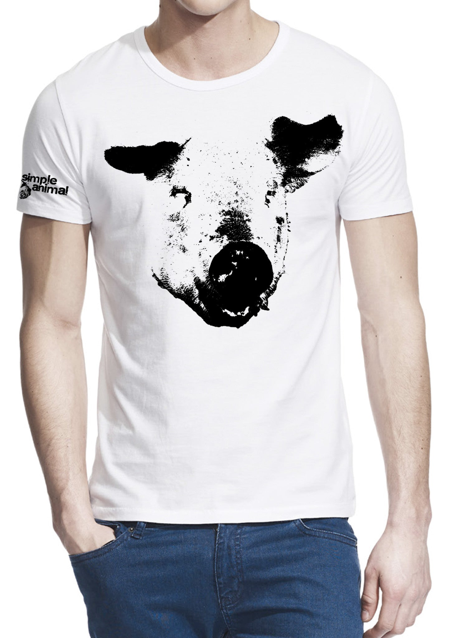 The Pig, 70% Bamboo-Viscose & 30% Organic Cotton, Guys - Simple Animal