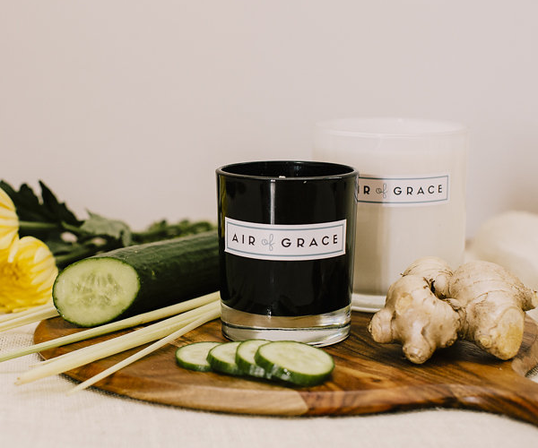 Air of Grace Lemongrass, Cucumber, Ginger & Mint Candles