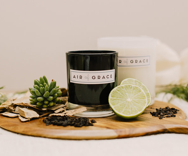 Air of Grace Gunpowder Flint, Lime & Sandalwood Candles