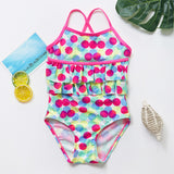 Girls Swimwear 2~13Years Children Swimsuit One Piece Girls