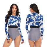 Rashguard Swimwear Women One Piece Swimsuit Surfing