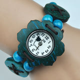 Beach Watch Coconut Shell Bracelet Watch