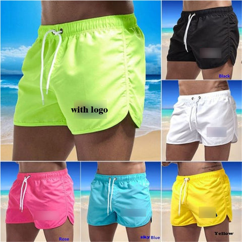 Swim Trunks Men Swimsuit Low Waist Breathable