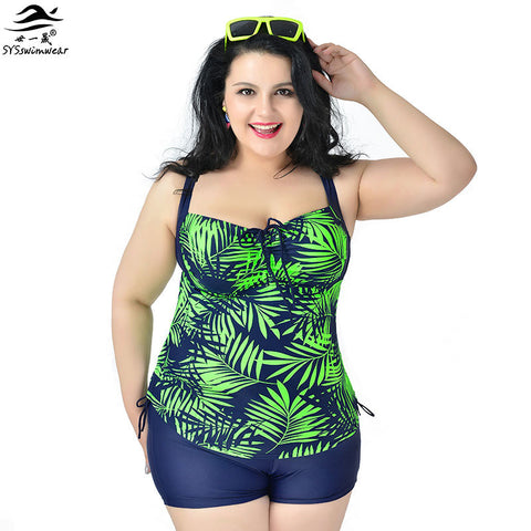 Women Tankinis Set Halter Plus size Swimwear