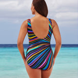 Plus Size One Piece Vintage  Retro Swimsuit