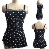 Dots Print Two Piece Plus Size Swimsuit