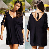 Beach Dress Crochet V-Neck Sexy Beachwear