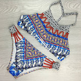 Sexy Swimsuit Geometry Hollow Out Bathing Suit Beachwear Bikini Set
