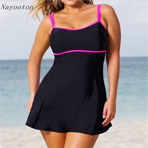 New plus size monokini for women high waist swimwear