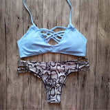 2017 Brazilian Bikini Sexy Micro Biquini Women High Neck Swimwear