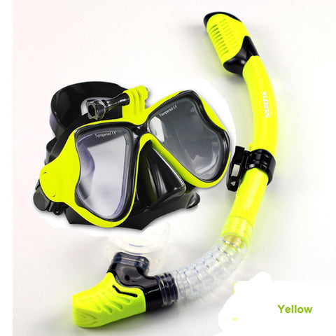 1set diving mask and snorkel  gopro scuba diving set