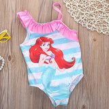 Girls one piece swimwear little mermaid