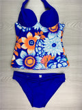 Two Pieces Tankini Swimwear Female Large Cup Skirt Bikini