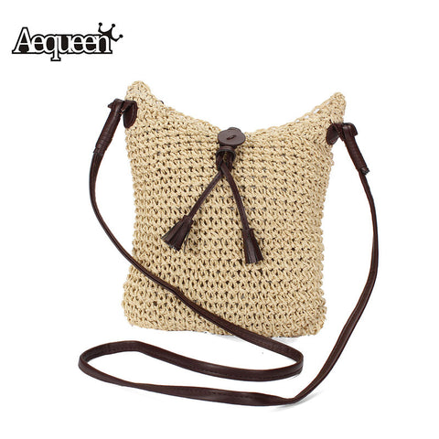 Woven Shoulder Bags Beach Small Travel Handbag
