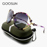 GOOSUN Fashion Polarized Sunglasses designer Camellia High Quality Big Sunglasses