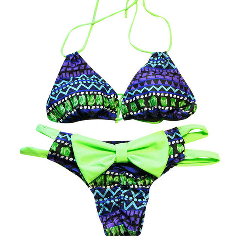 Bandage Swimsuit Padded Top Bikini Beach Swimsuit