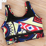 Floral Print Tankini Swimsuits Plus Size Two Piece