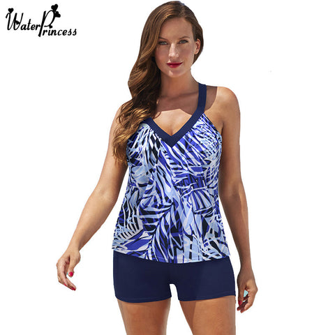Rainforest Tankini Two Piece Swimwear Plus Size