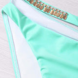 Mermaid Shell Bra Push Up Two-Piece Swimwear