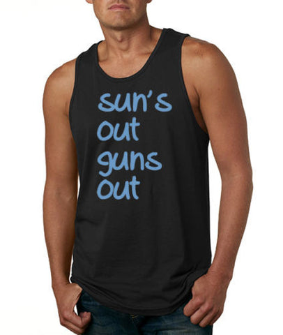 SUNS OUT GUNS OUT  BEACH MUSCLE TANK TOP