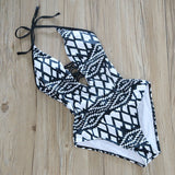 One Piece Backless Cut Out Swimsuit