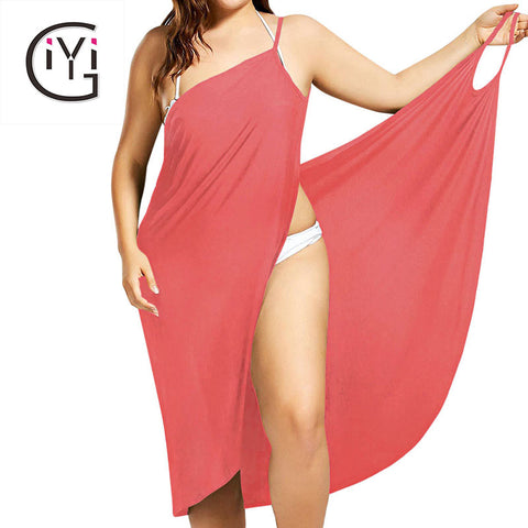 Plus Size 5XL Sexy Spaghetti Srap Beach Dress