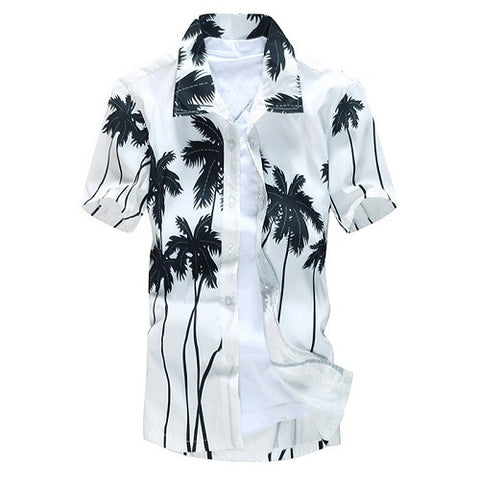 Short Sleeve Hawaiian Quick-drying Printed Casual Dress Shirt