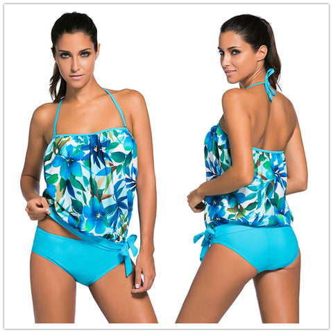 Removable straps with pad Tankini 2 piece Set