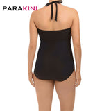 Plus Size One Piece Halter Swimsuit