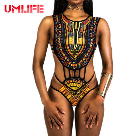 African Sexy Mini String One Piece Swimsuit