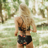Sexy High Neck Bikini Women Swimwear