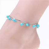 Women Charm Glass Beads Anklets Bracelet