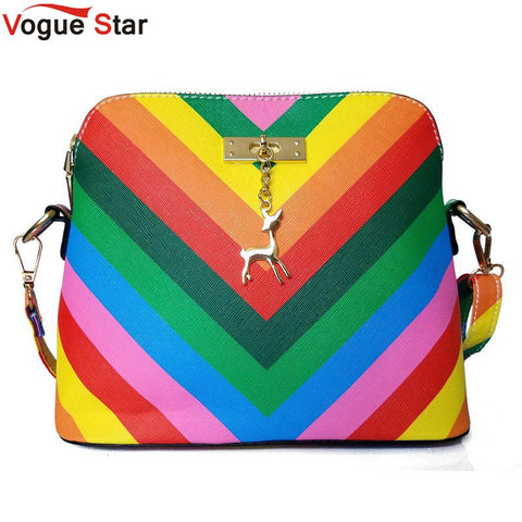 Rainbow shell bag