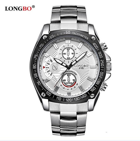 LONGBO Quartz Watch Luxury Steel Mens Watch Fashion Water proof