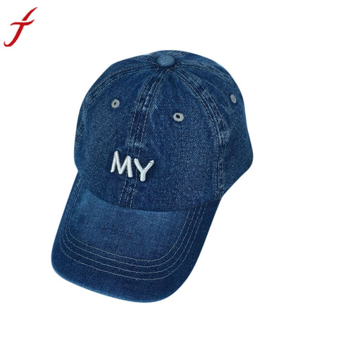 Baseball Cap Men Women Snapback Caps Denim Blank