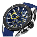 Men Sport Watch Chronograph Silicone Strap Quartz