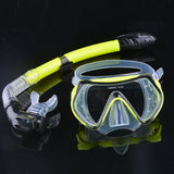 Scuba Diving Mask Snorkel Glasses Set Silicone