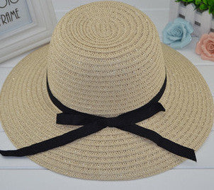 New Fashion Sun Hat Women's Summer Foldable Straw Hats For Women