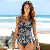 Top+Short Plus Size Tankini