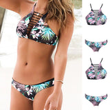 Padded Bikini Set Hollow Out Swimsuit
