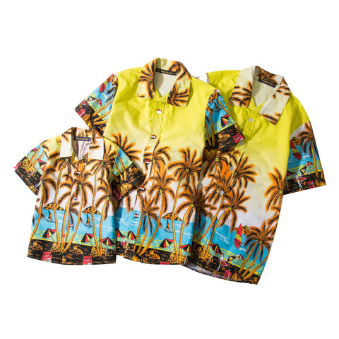 Hawaiian Shirts Short Sleeve Tropical Palm