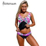 Kaleidoscope Insert Two Piece Tankinis Swimsuit