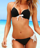 Solid Color Bikinis Set Push Up Underwire Swimsuit
