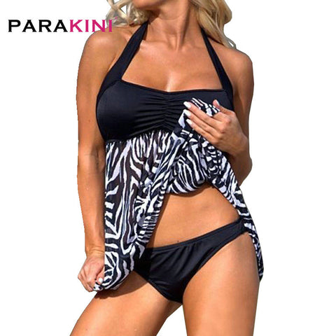 Zebra Stripe Swimwear Pregnant Women Two-piece Swimsuit