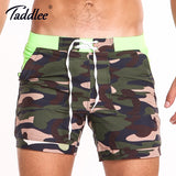 Plus Size Long Basic Camo Swimming Surf Board Shorts Quick Dry