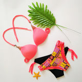 Sexy Low Waist Bikini Set Brazilian Push Up