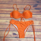 Halter Lace-up Brazilian Bikini