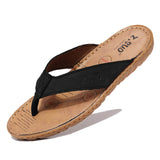 Men's flip flops Genuine leather beach sandals