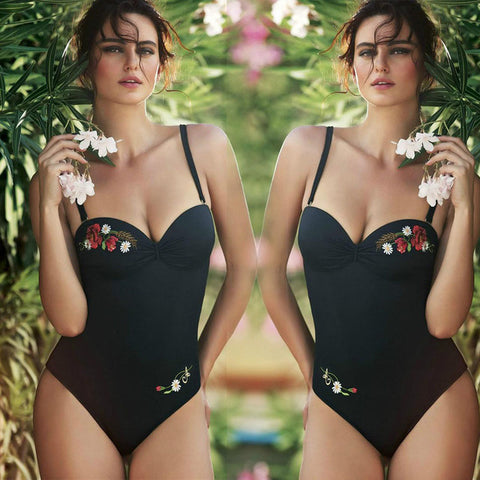 One Piece Vintage Retro Bathing Suit